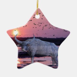 NT Buffalo Ceramic Star Ornament