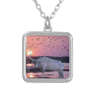 NT Buffalo Silver Plated Necklace