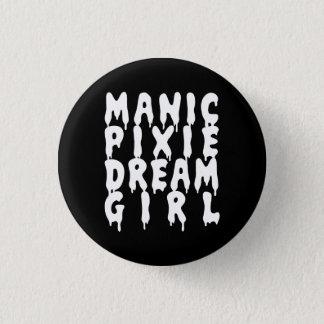 Nu Goth Manic Pixie Dream Girl 1 Inch Round Button