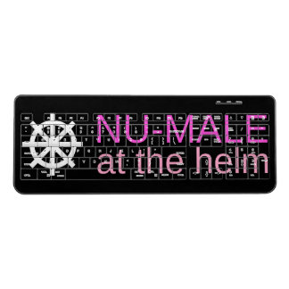 NU-MALE at the helm (Pinks) Wireless Keyboard