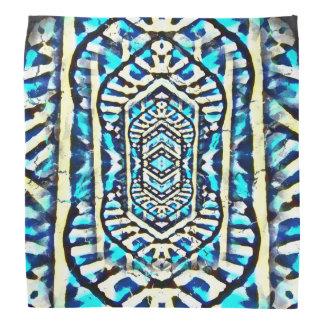 Nu One Blue Abstract Layered Bandana