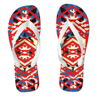 Nu One Red Urban Style Flip Flops 2