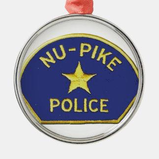 Nu-Pike Police Metal Ornament