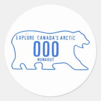 NU sample Round Sticker