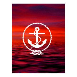 Nuage coloré de beau d'ancre lever de soleil de cartes postales