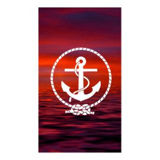 Nuage coloré de beau lever de soleil nautique d'an modèles de cartes de visite