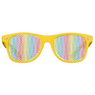 Nuances lesbiennes gaies d'arc-en-ciel de fierté lunettes de soleil