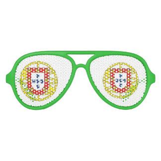 Nuances patriotiques de partie de crête de lunettes de soleil