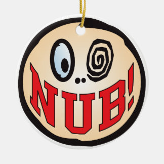 NUB Text Head Ceramic Ornament