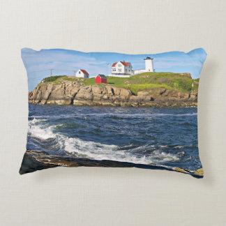 Nubble Light, Cape Neddick Maine Accent Pillow