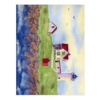 Nubble Light House York Maine Postcard