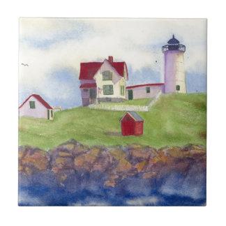 Nubble Light House York Maine Tiles