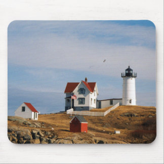 Nubble Light Lighthouse Cape Neddick Maine Mouse Pad