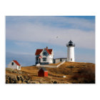 Nubble Light Lighthouse York Maine Postcard