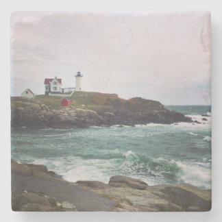 Nubble Light - York, Maine Stone Coaster