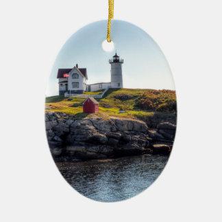 Nubble Lighthouse Ceramic Ornament