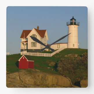 Nubble Lighthouse in York Maine Square Wall Clock