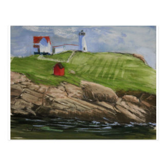 Nubble Lighthouse print on post card
