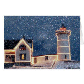 Nubble Lighthouse Winter Card