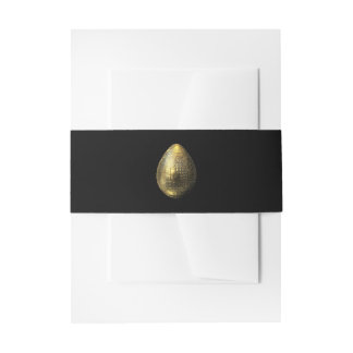Nubbled Golden Egg Invitation Belly Band