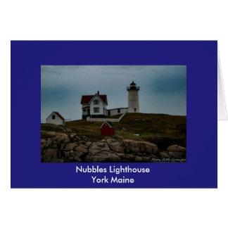 Nubbles Lighthouse Card