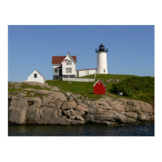Nubbles Lighthouse- New England Postcard