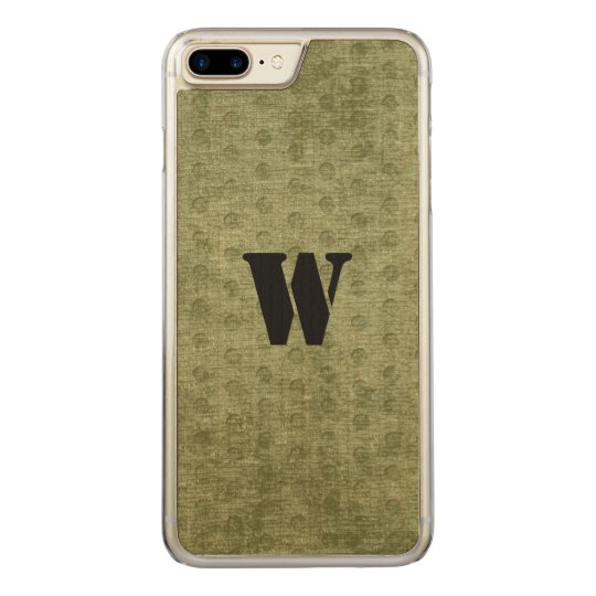 Nubby Army Green Chenille Likeness Carved iPhone 8 Plus/7 Plus Case