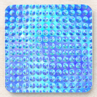 Nubby Blue Glass Coasters