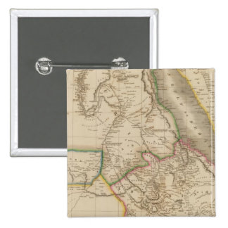 Nubia, Abyssinia, Africa 2 Inch Square Button