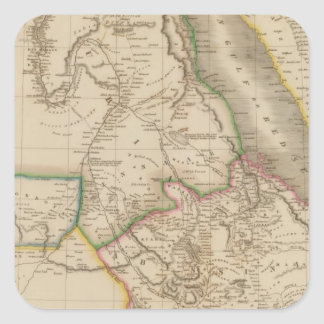 Nubia, Abyssinia, Africa Square Sticker