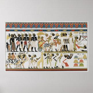 Nubian chiefs bringing presents poster