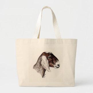 """Nubian Goat"" Animal art Tote"