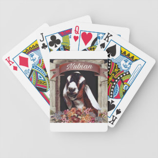 Nubian Goat Bicycle Playing Cards