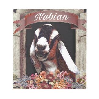 Nubian Goat Notepad