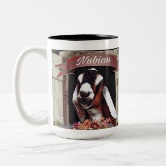 Nubian Goat Two-Tone Coffee Mug