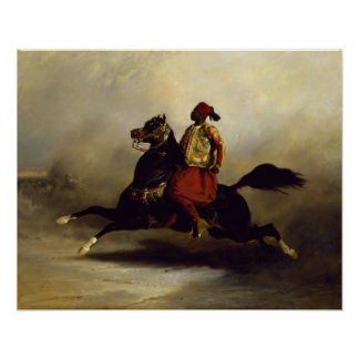 Nubian Horseman at the Gallop Poster