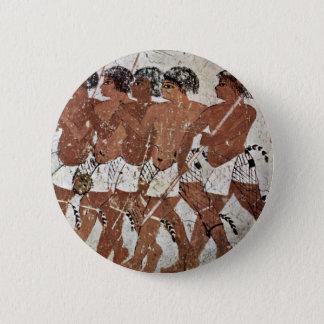 Nubian Mercenaries By Maler Der Grabkammer Des Zen 2 Inch Round Button