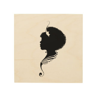 Nubian Queen artwork Wood Print