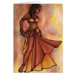 Nubian Sister Belly Dancer Card
