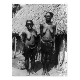 Nubian Women Standing in front of Hut Postcard