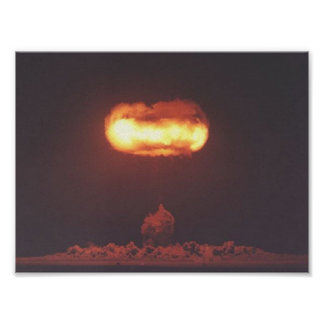 Nuclear bomb test photo. poster