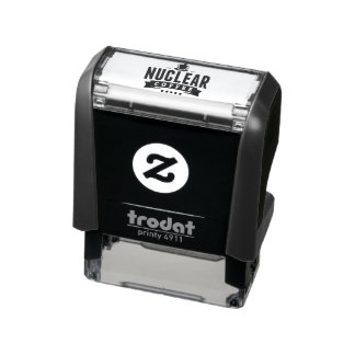 Nuclear Coffee Stamp! Self-inking Stamp
