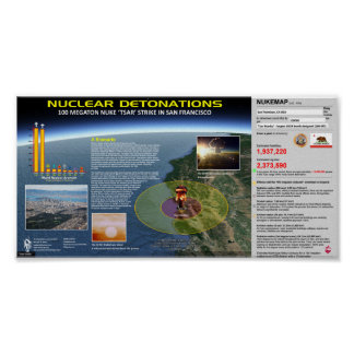 Nuclear Detonations - California Poster