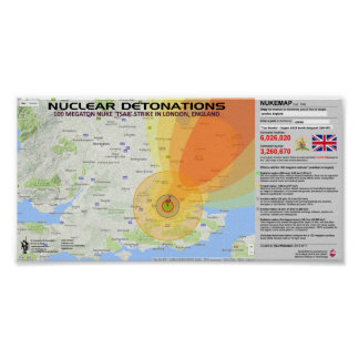 Nuclear Detonations - England Poster