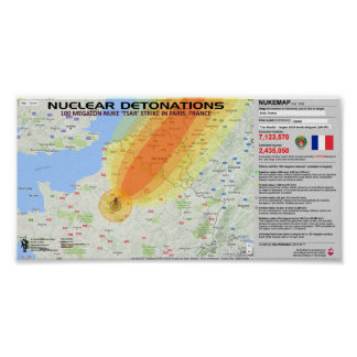Nuclear Detonations - France Poster