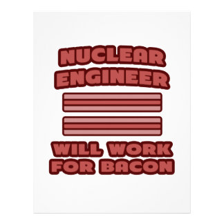 Nuclear Engineer Will Work For Bacon Letterhead Template