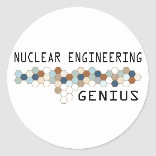 Nuclear Engineering Genius Round Stickers