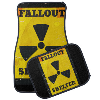 Nuclear Fallout Shelter poster Car Mat