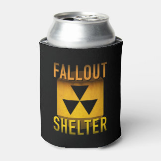 Nuclear Fallout Shelter Retro Atomic Age Grunge : Can Cooler