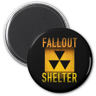 Nuclear Fallout Shelter Retro Atomic Age Grunge : Magnet